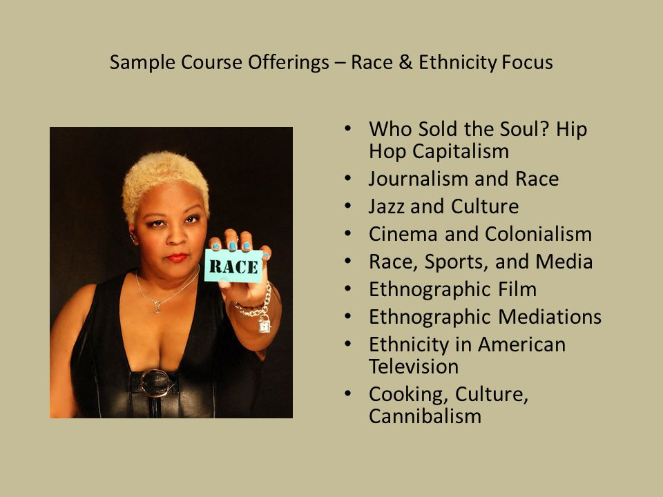 Sample Course Offerings – Race & Ethnicity Focus