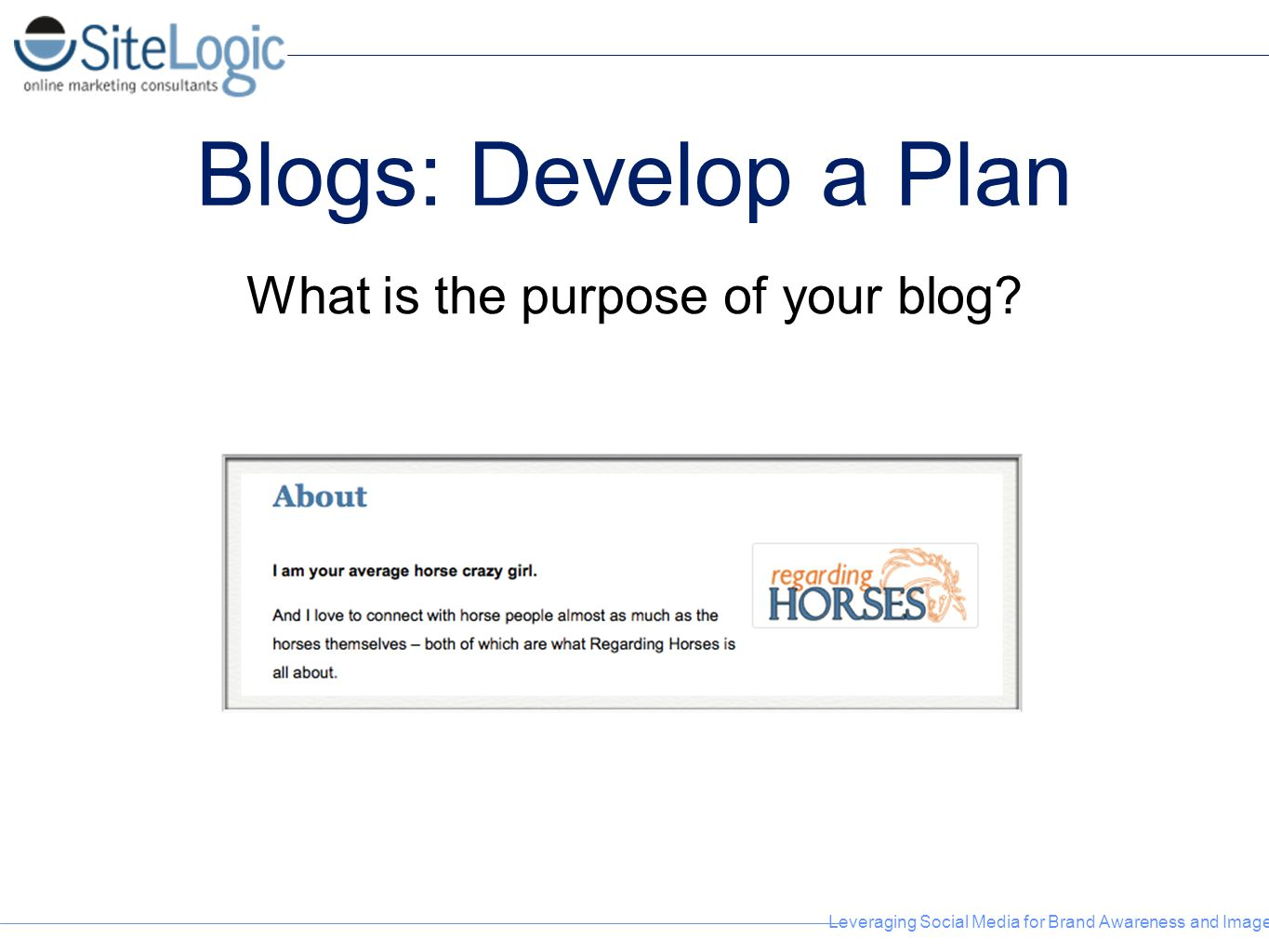 What is the purpose of your blog