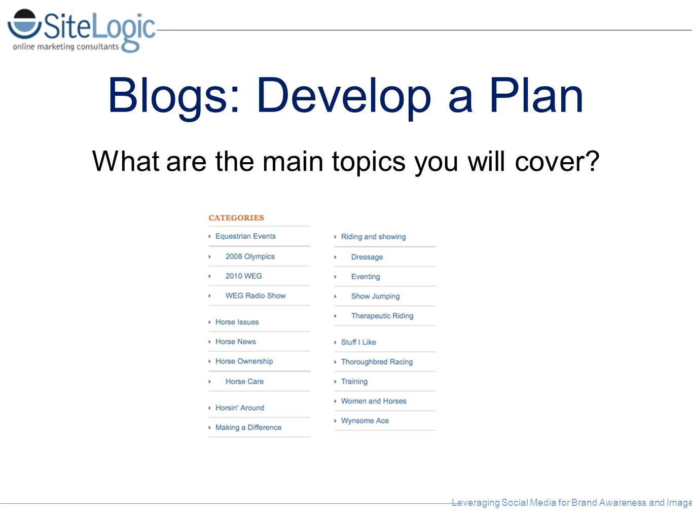 What are the main topics you will cover