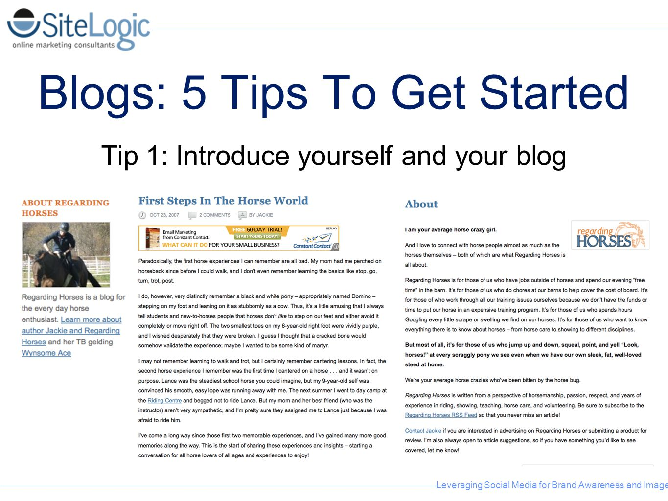 Blogs: 5 Tips To Get Started