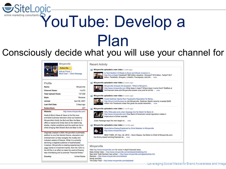 YouTube: Develop a Plan