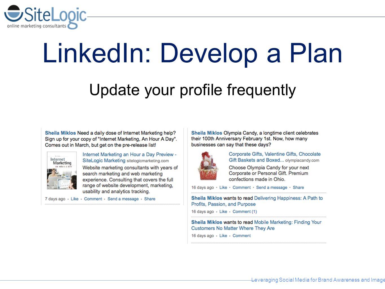 LinkedIn: Develop a Plan