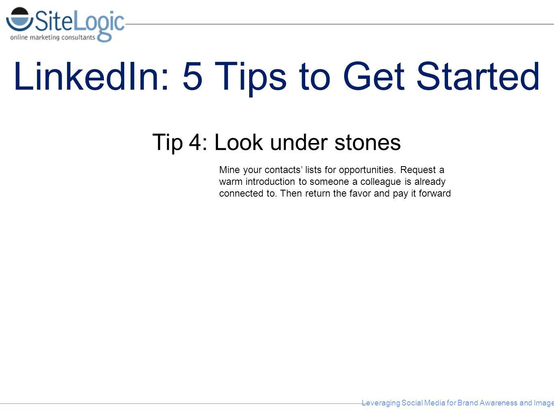 LinkedIn: 5 Tips to Get Started