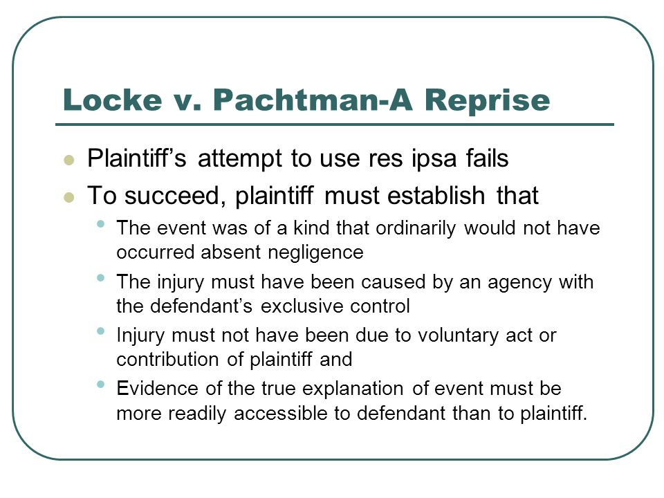 Locke v. Pachtman-A Reprise