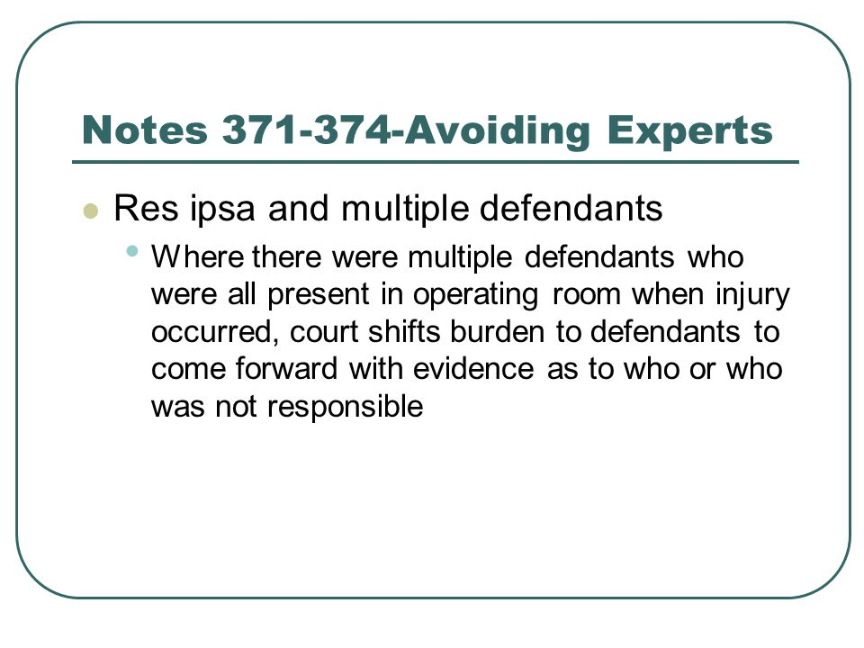Notes 371-374-Avoiding Experts