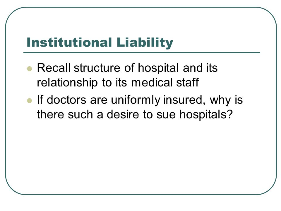 Institutional Liability