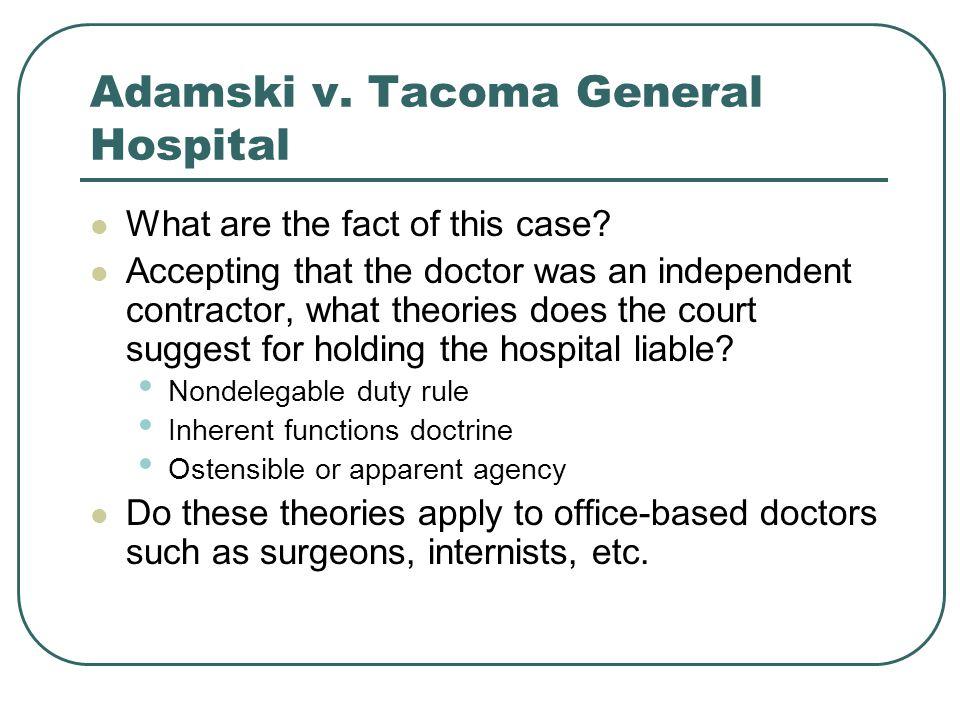 Adamski v. Tacoma General Hospital