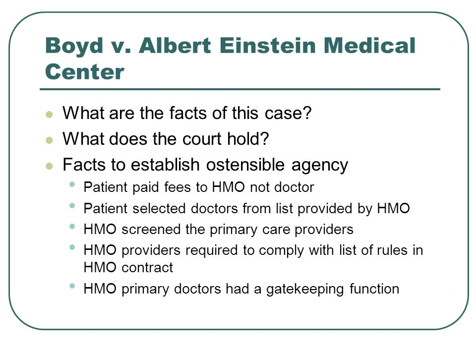Boyd v. Albert Einstein Medical Center