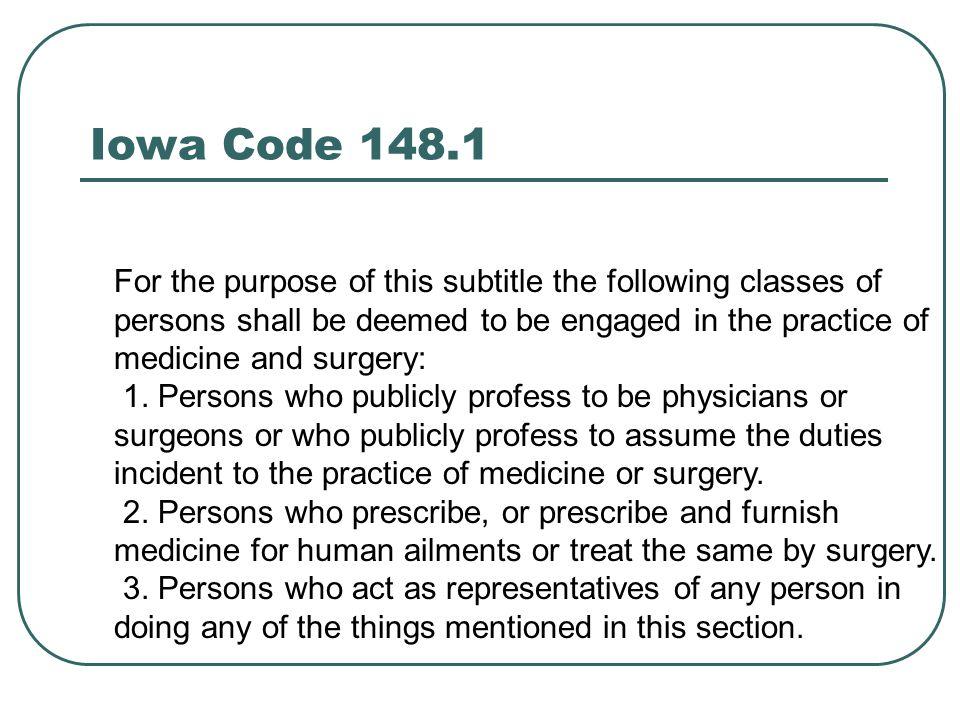 Iowa Code 148.1