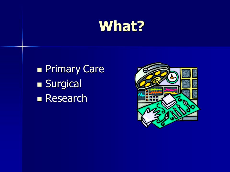 What Primary Care Surgical Research