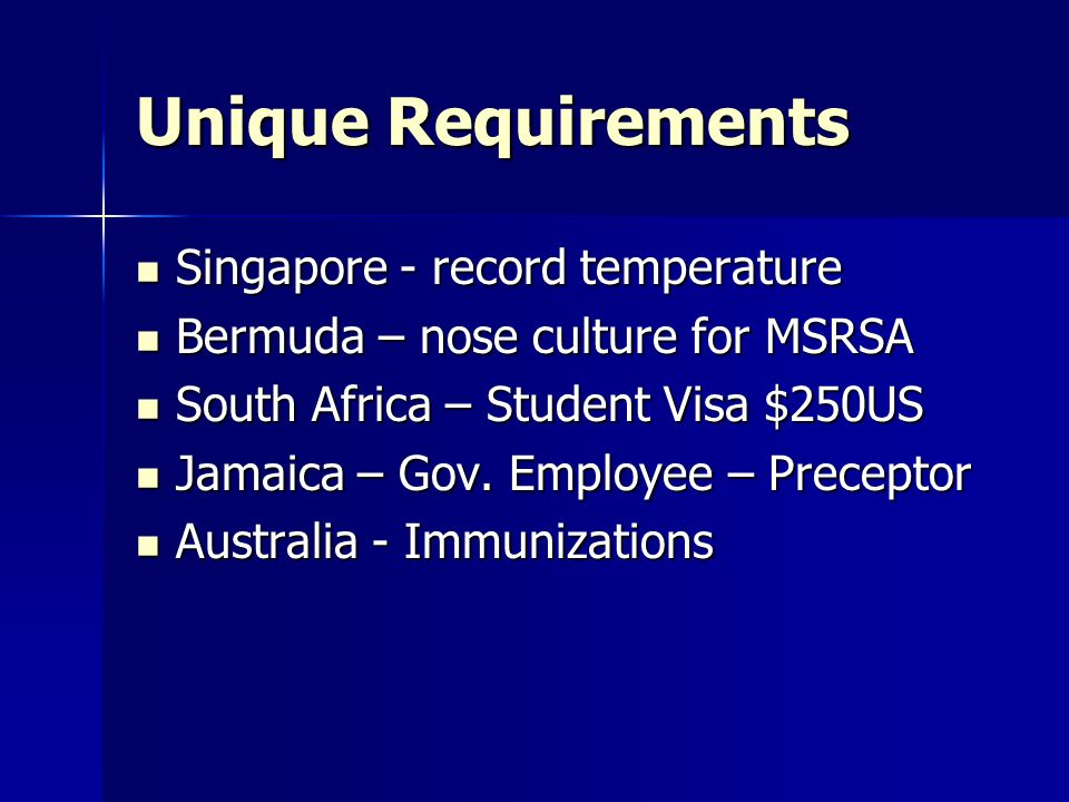 Unique Requirements Singapore - record temperature