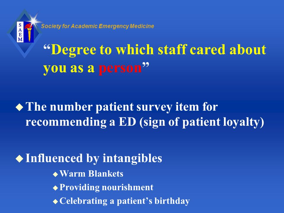 Degree to which staff cared about you as a person