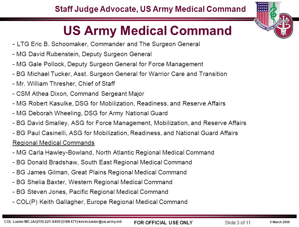 US Army Medical Command