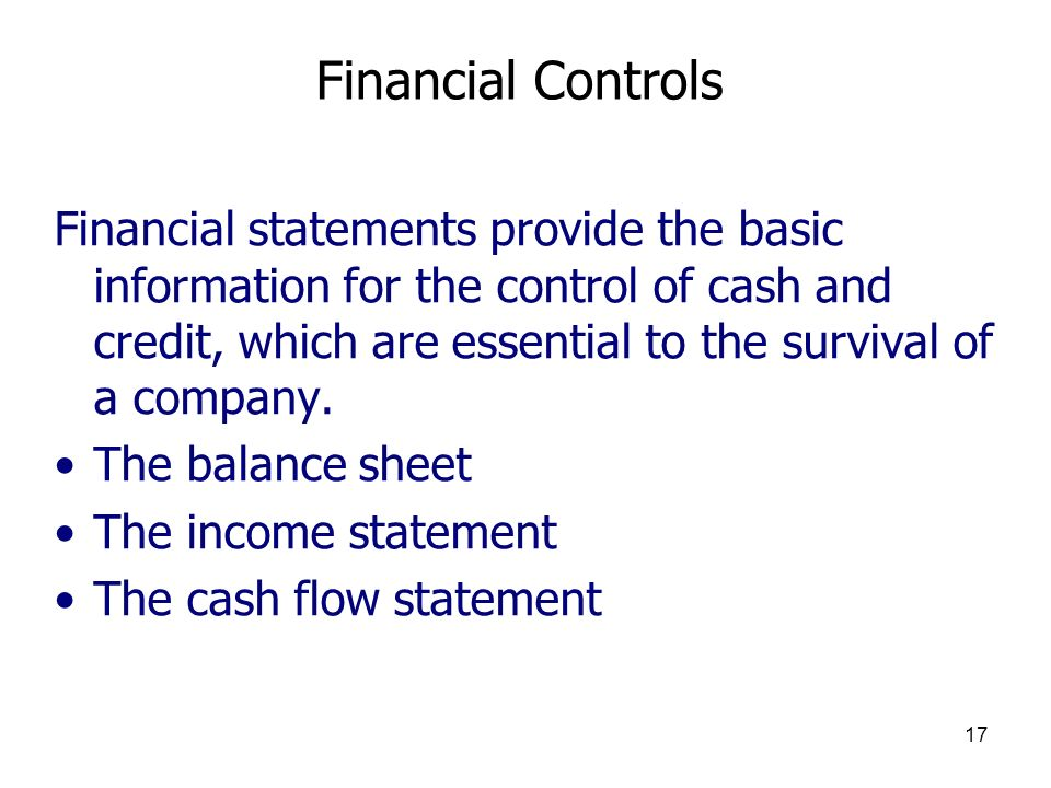 Financial Controls