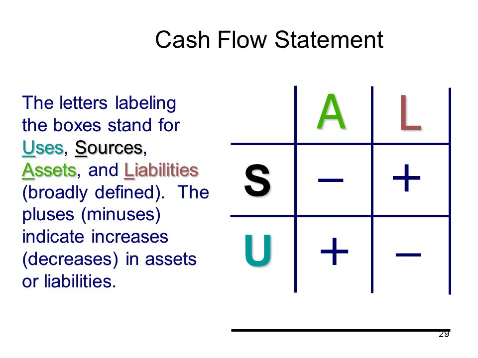 A L  + +  S U Cash Flow Statement