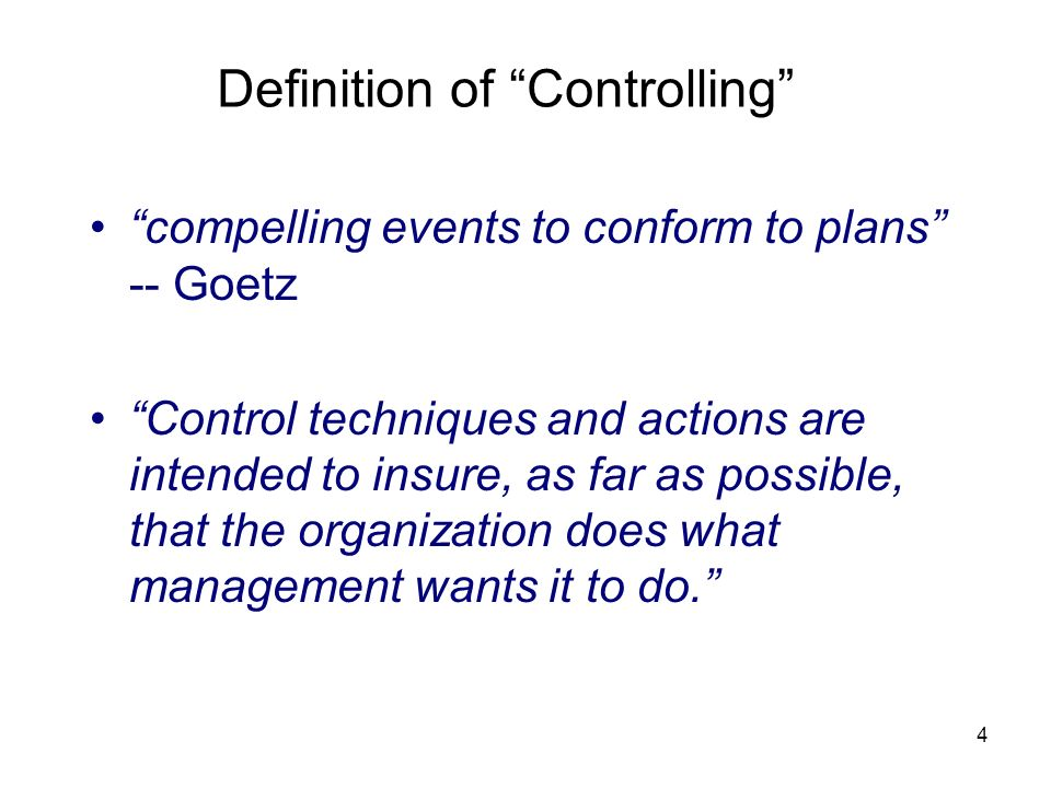 Definition of Controlling