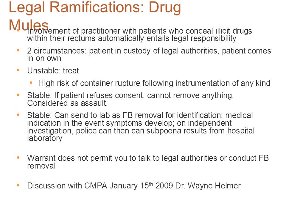 Legal Ramifications: Drug Mules