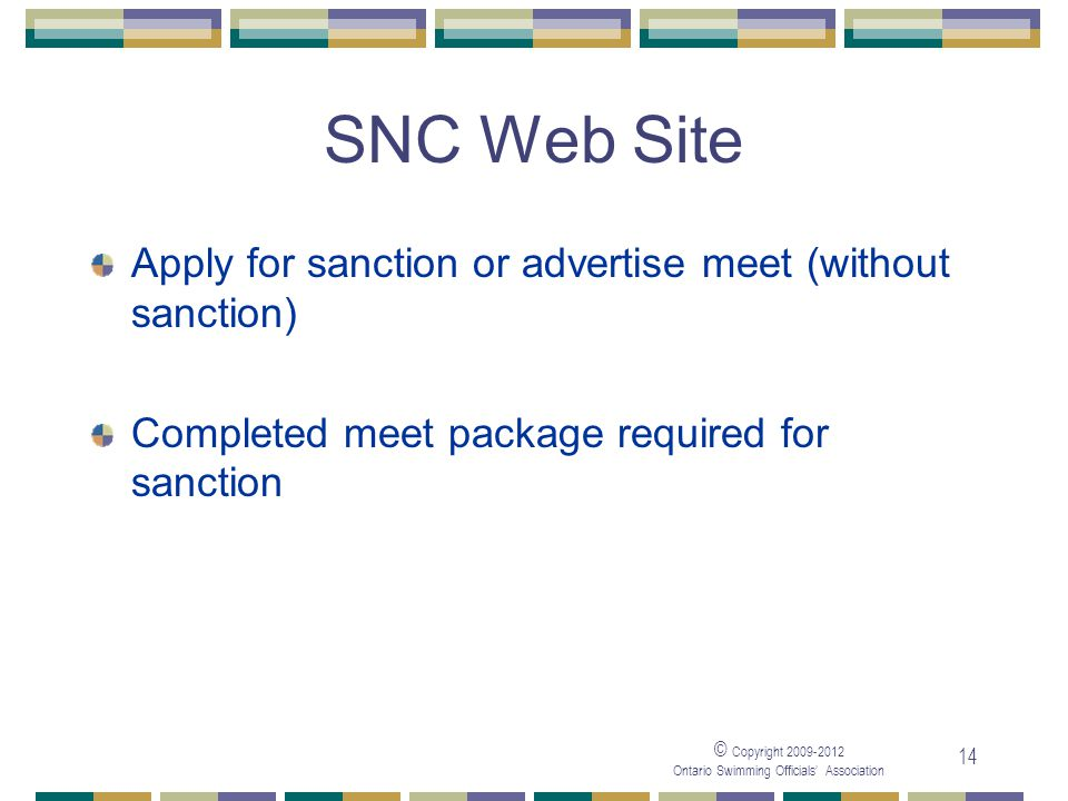 SNC Web Site Apply for sanction or advertise meet (without sanction)