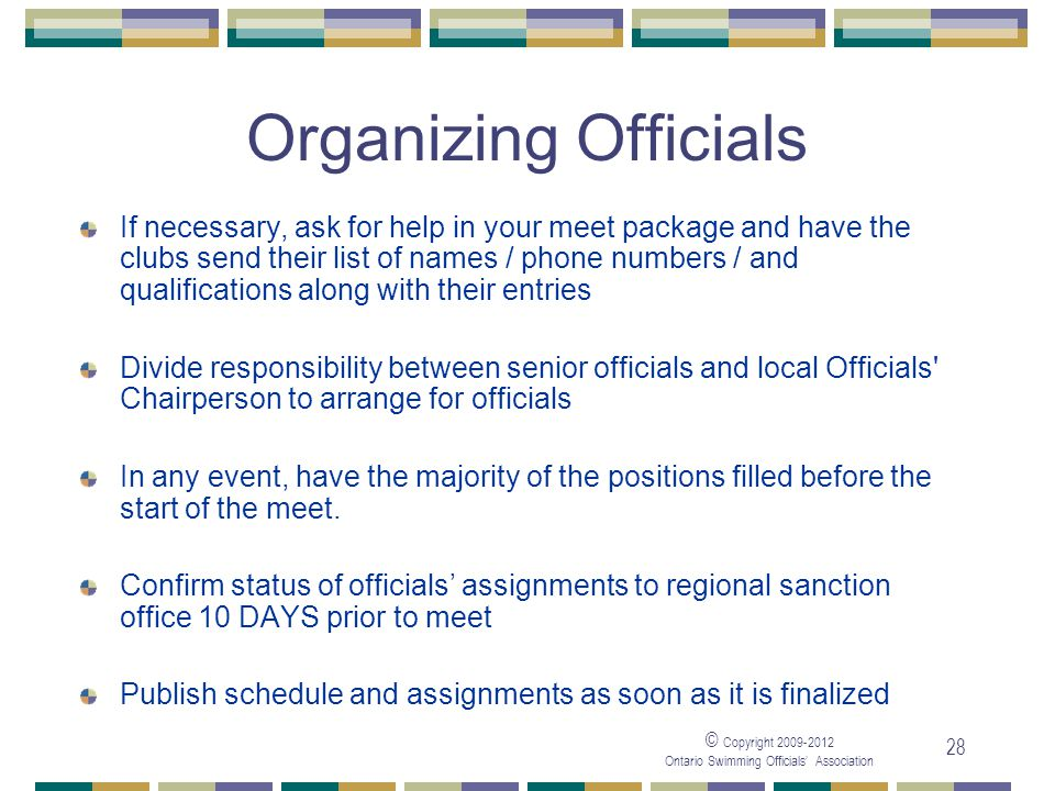05/04/2017 Organizing Officials.