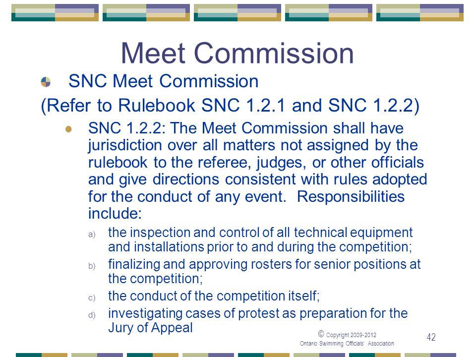 Meet Commission SNC Meet Commission