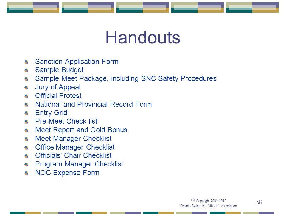 Handouts Sanction Application Form Sample Budget