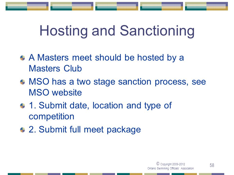 Hosting and Sanctioning