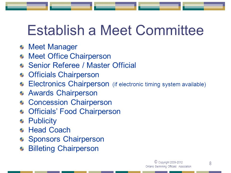 Establish a Meet Committee