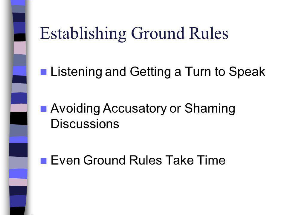 Establishing Ground Rules
