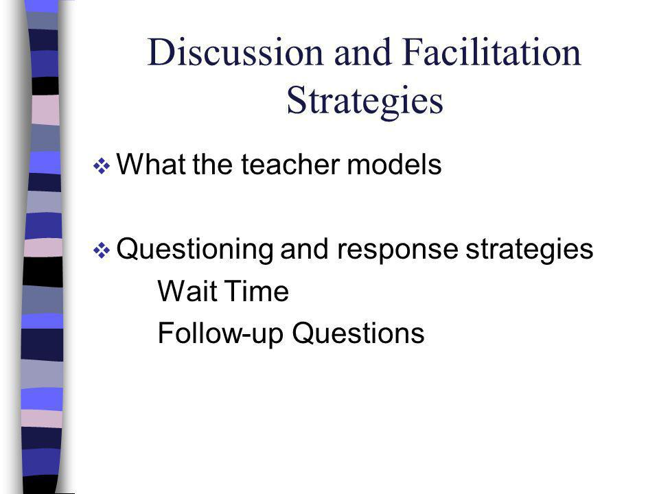 Discussion and Facilitation Strategies