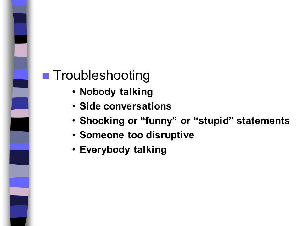 Troubleshooting Nobody talking Side conversations