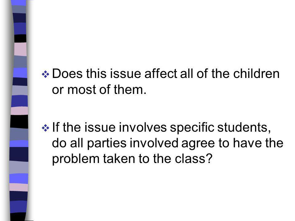 Does this issue affect all of the children or most of them.