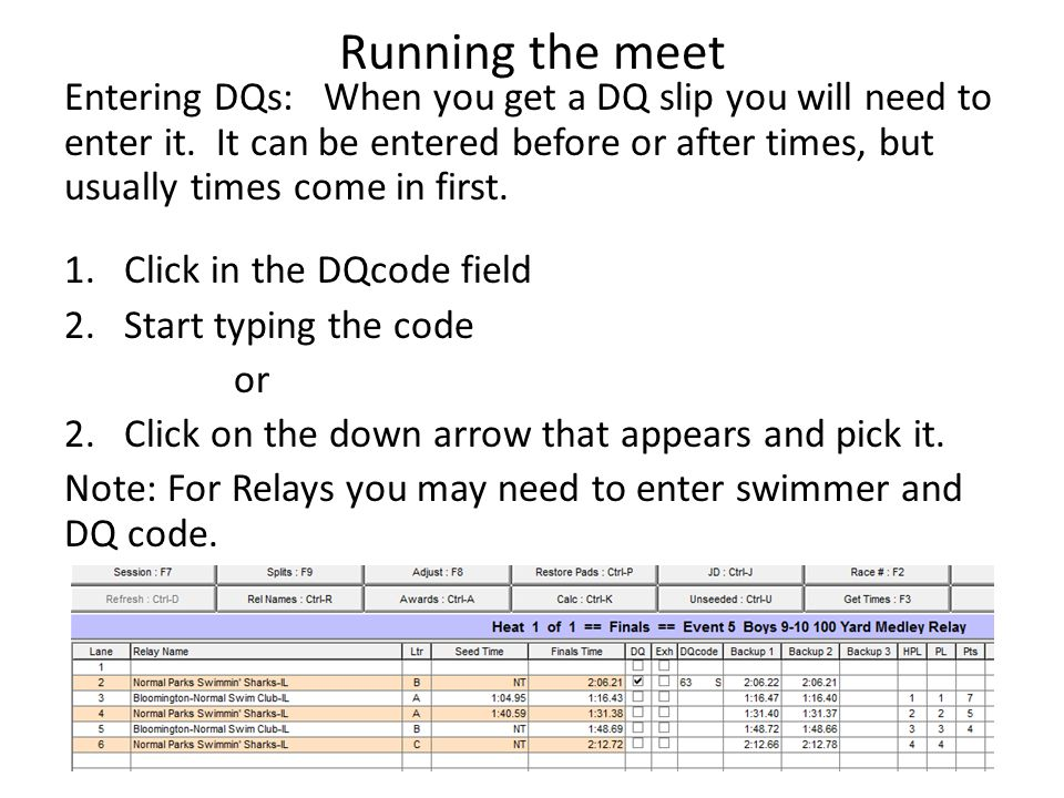 Running the meet