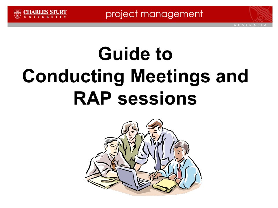 Guide to Conducting Meetings and RAP sessions