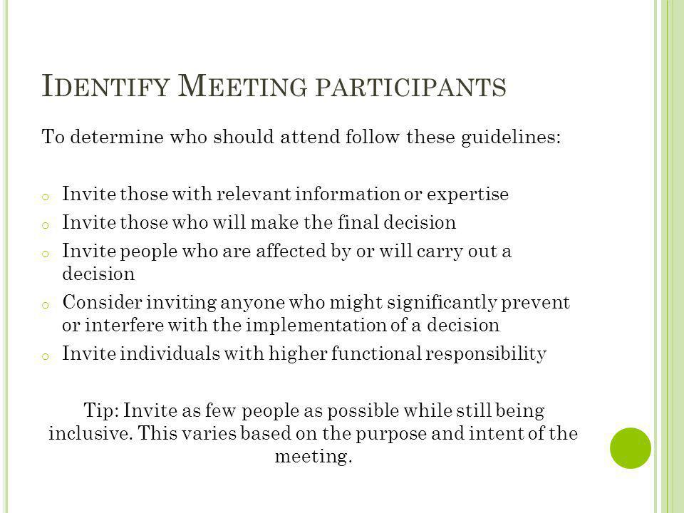 Identify Meeting participants