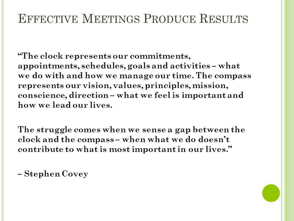 Effective Meetings Produce Results