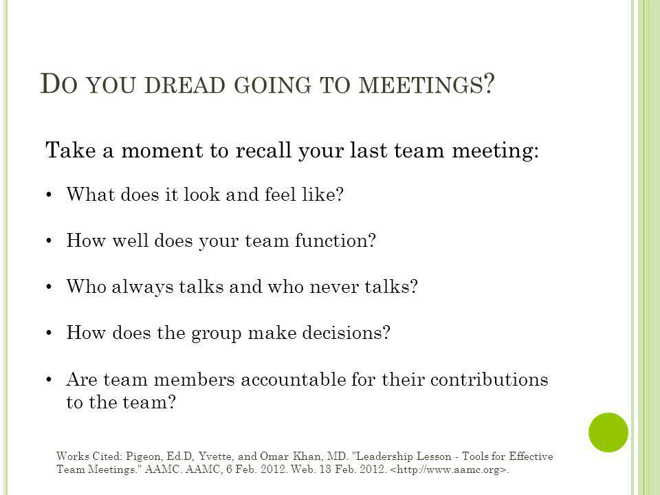 Do you dread going to meetings