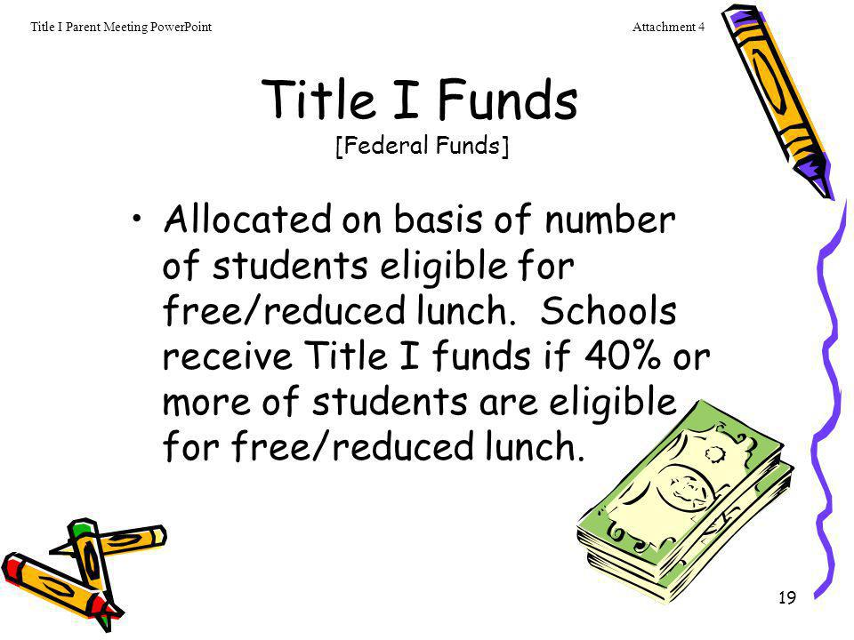 Title I Funds [Federal Funds]