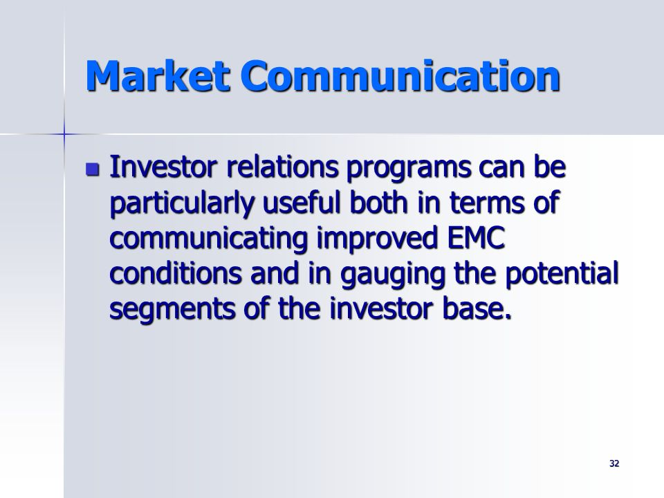 Market Communication