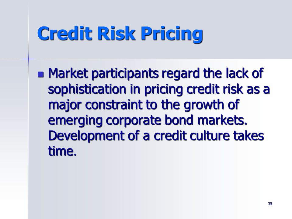 Credit Risk Pricing