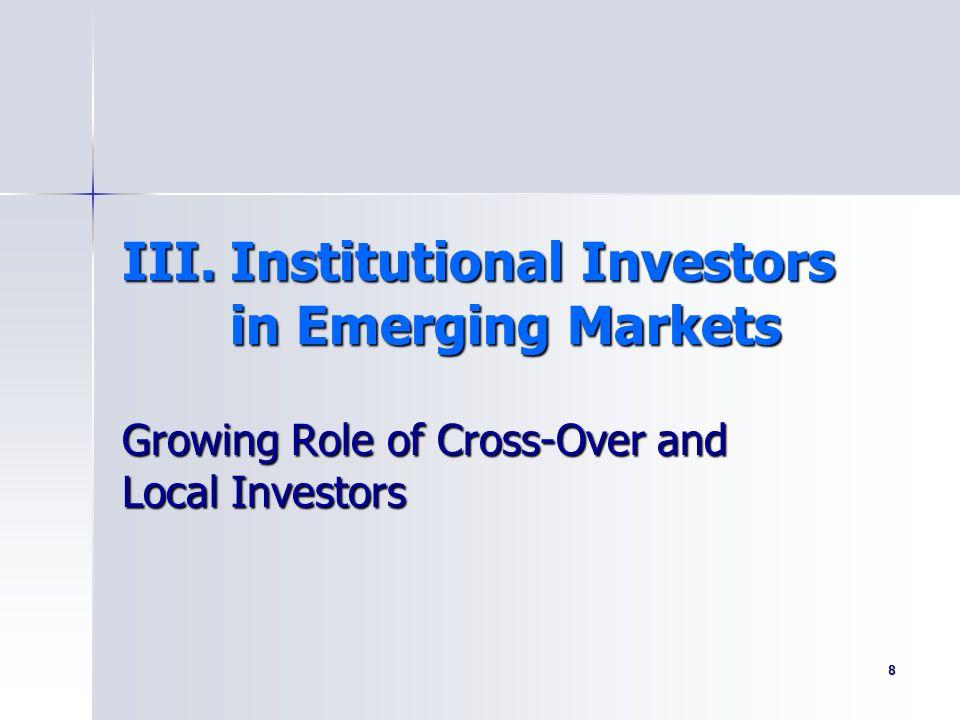 III. Institutional Investors in Emerging Markets