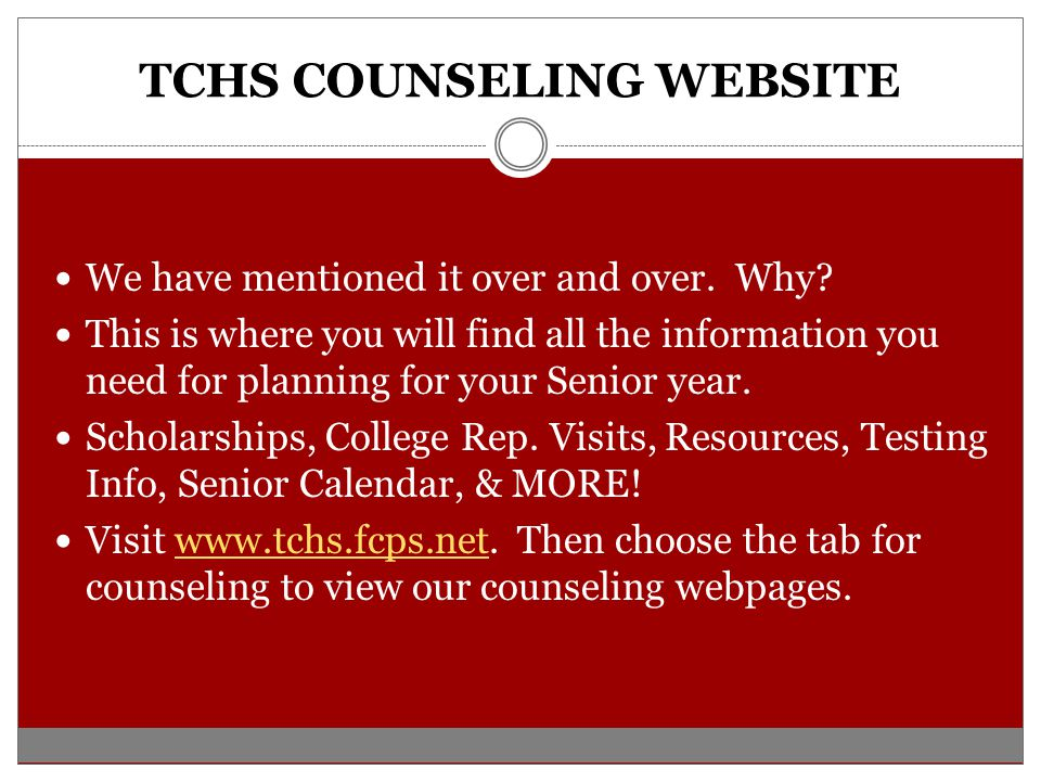 TCHS COUNSELING WEBSITE