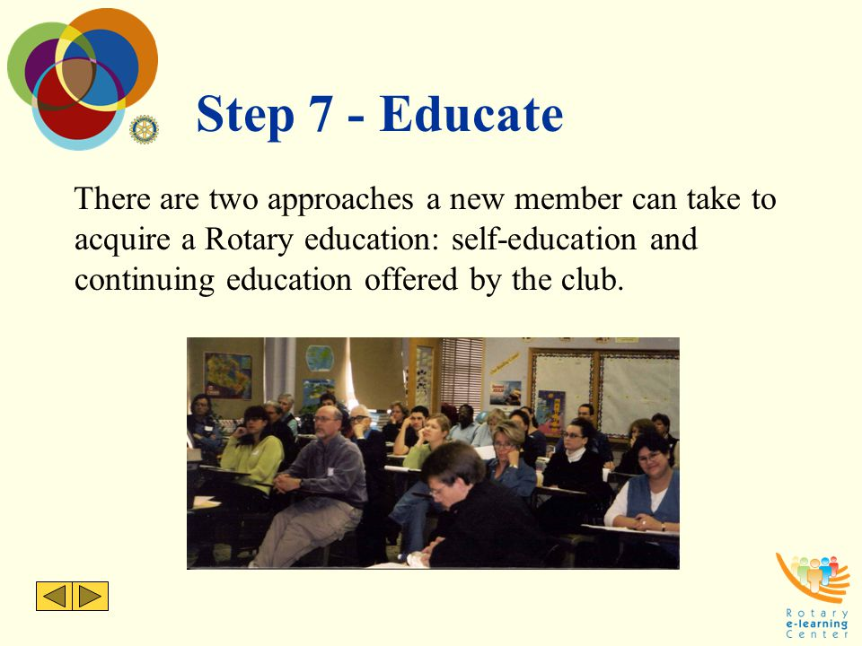 Step 7 - Educate