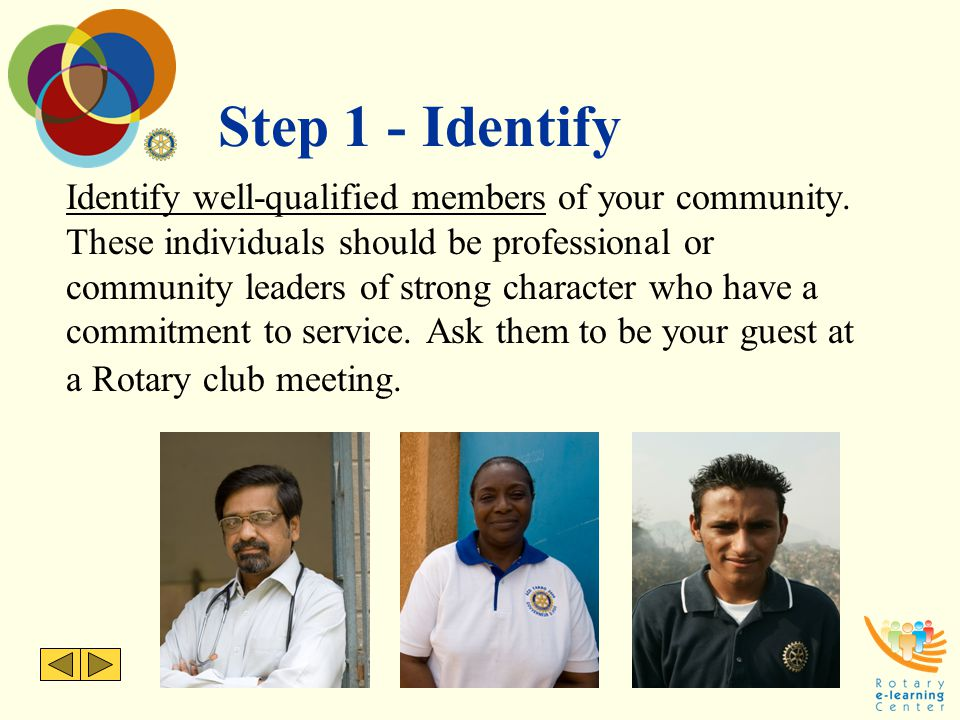 Step 1 - Identify