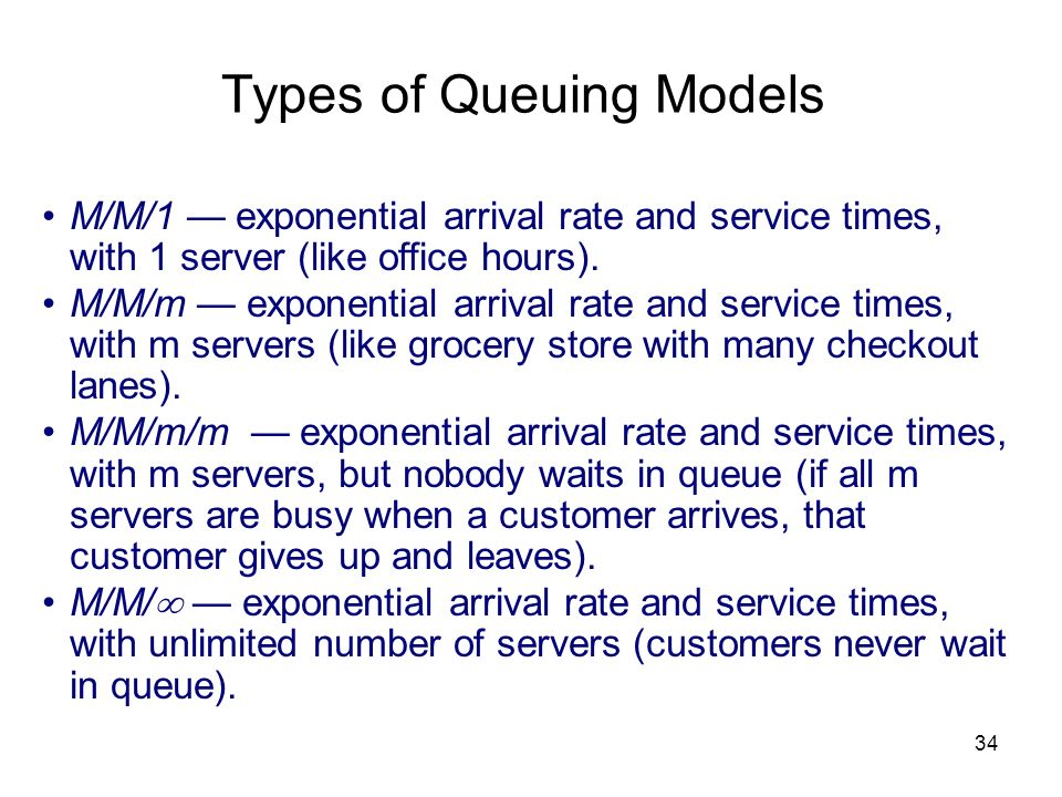 Types of Queuing Models