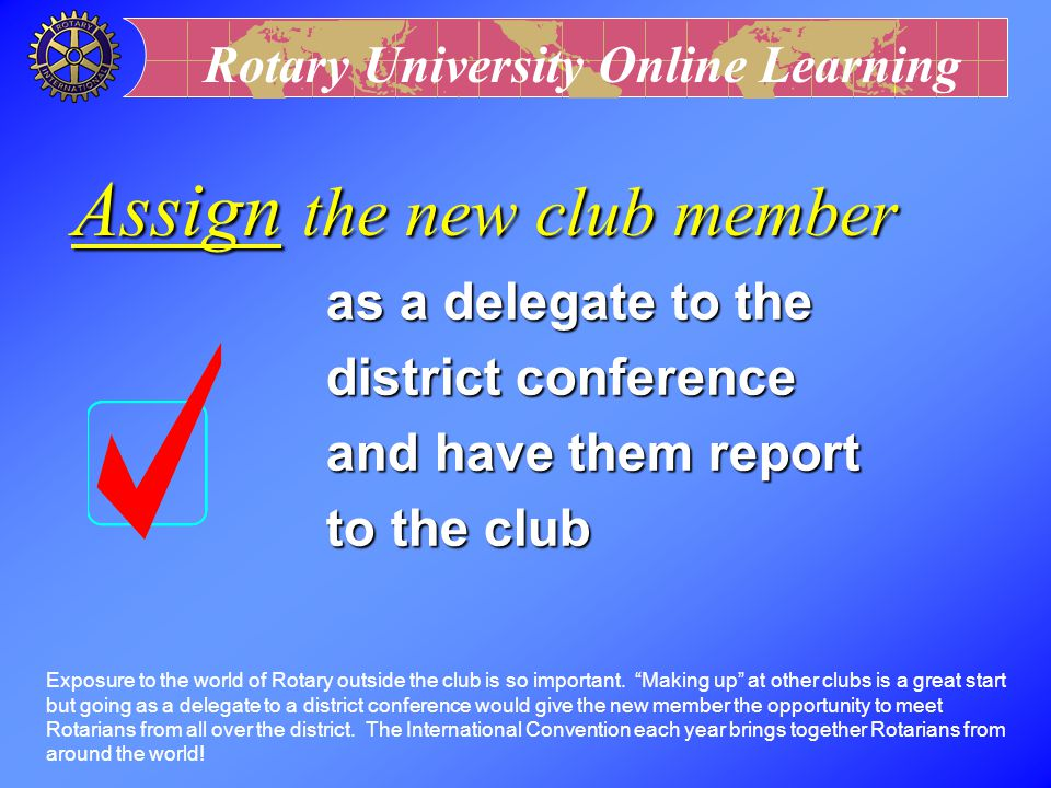 Assign the new club member