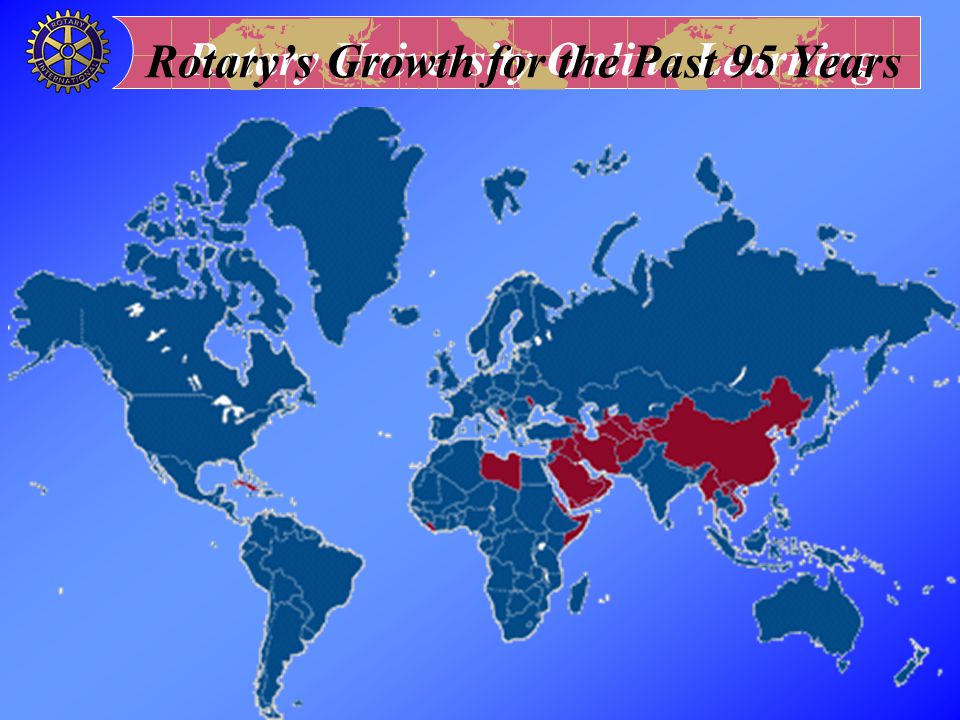 Rotary's Growth for the Past 95 Years
