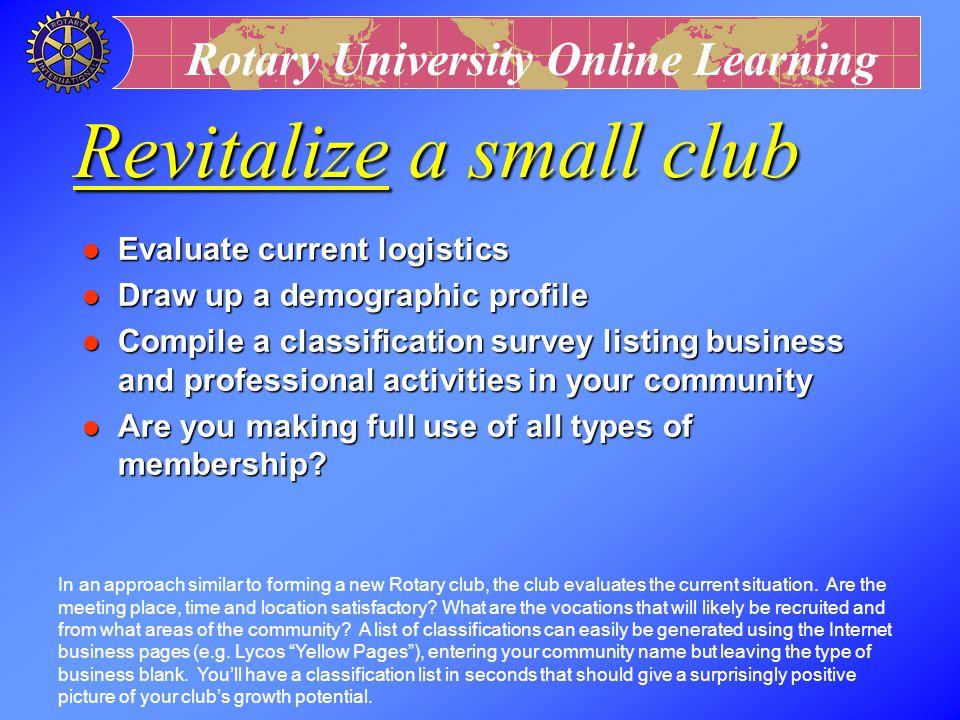 Revitalize a small club