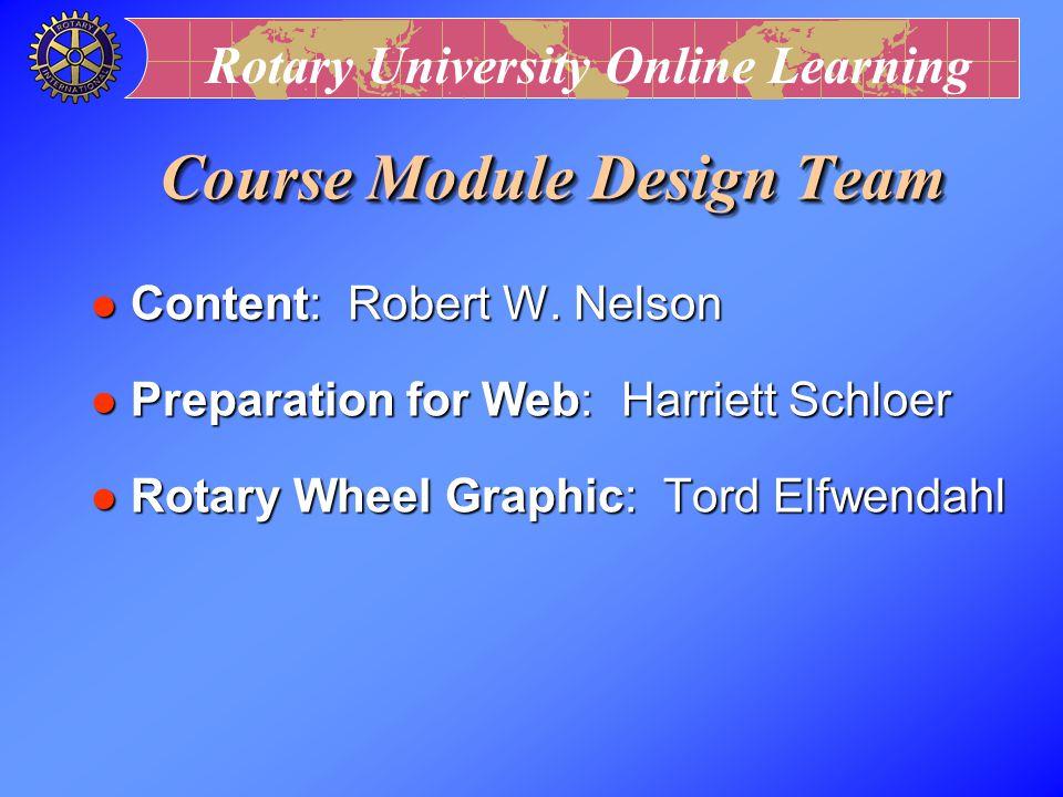 Course Module Design Team