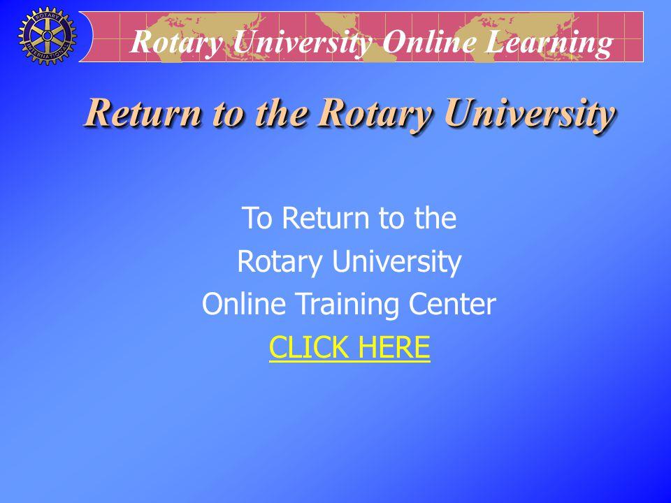 Return to the Rotary University