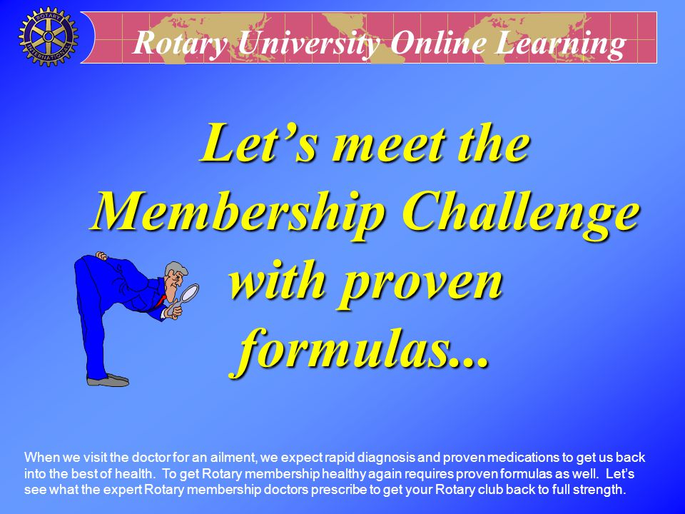 Let's meet the Membership Challenge with proven formulas...